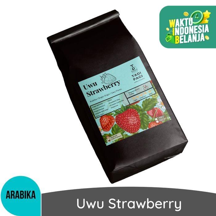 Foto Produk Arabika Uwu Strawberry 200 gr Roast Bean Coffee - Kopi biji matang dari Tadipagiroastery