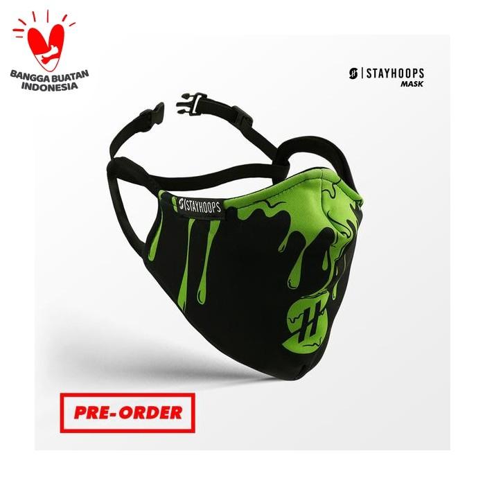 Foto Produk Stayhoops - Masker Fullprint 2 Layer - Non Medis - Melted drew dari Stayhoops official
