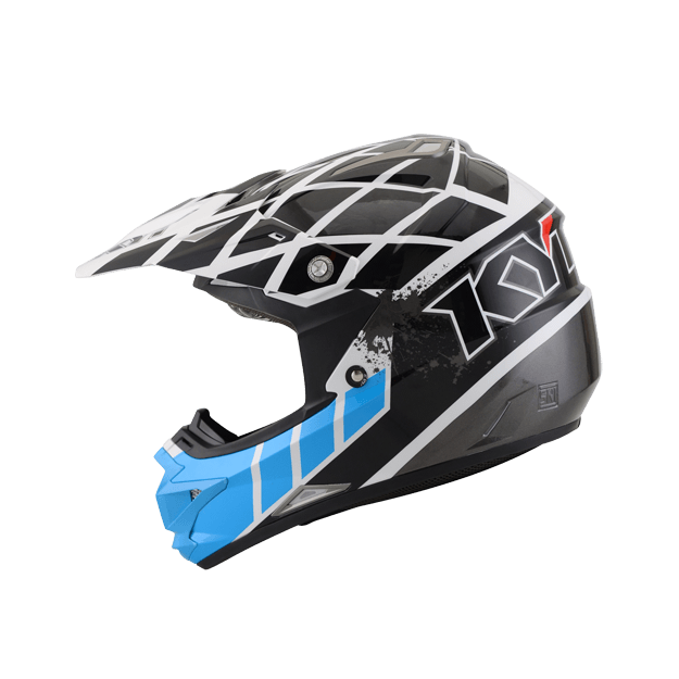 Jual Helm KYT Trail Motocross Cross Over K Racing Red Fluo