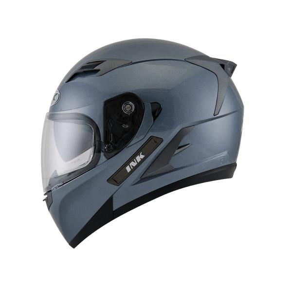 Helm INK Duke Full Face Fullface Black White Orange Visor 4
