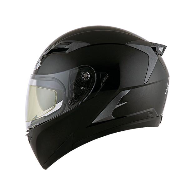 Helm INK Duke Full Face Fullface Black White Orange Visor 3