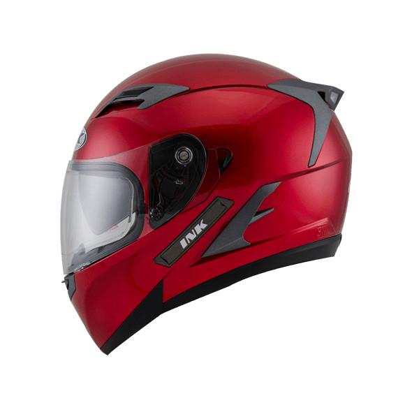 Helm INK Duke Full Face Fullface Black White Orange Visor 5