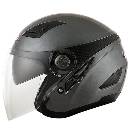 Jual Helm MDS Zarra Solid Gunmetal Half Face Zara Grey