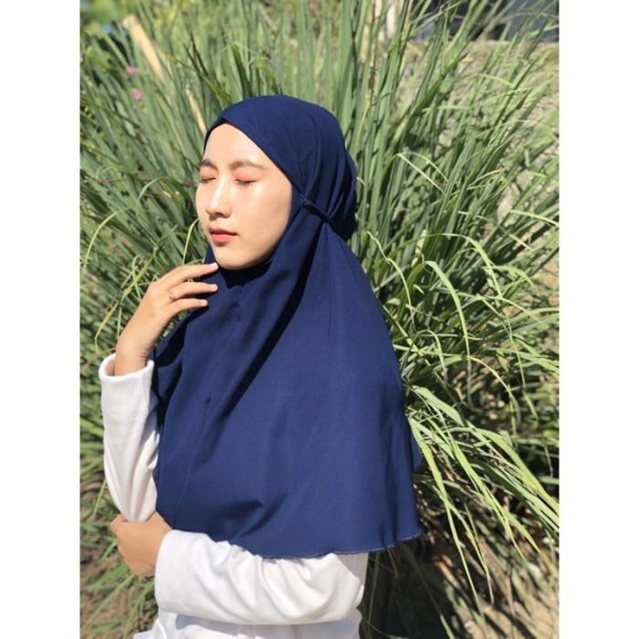 Jual Jilbab Bergo Maryam Tali Bahan Wolfis Fashion Muslim Murah Jakarta Utara Harapan Jaya111 Tokopedia