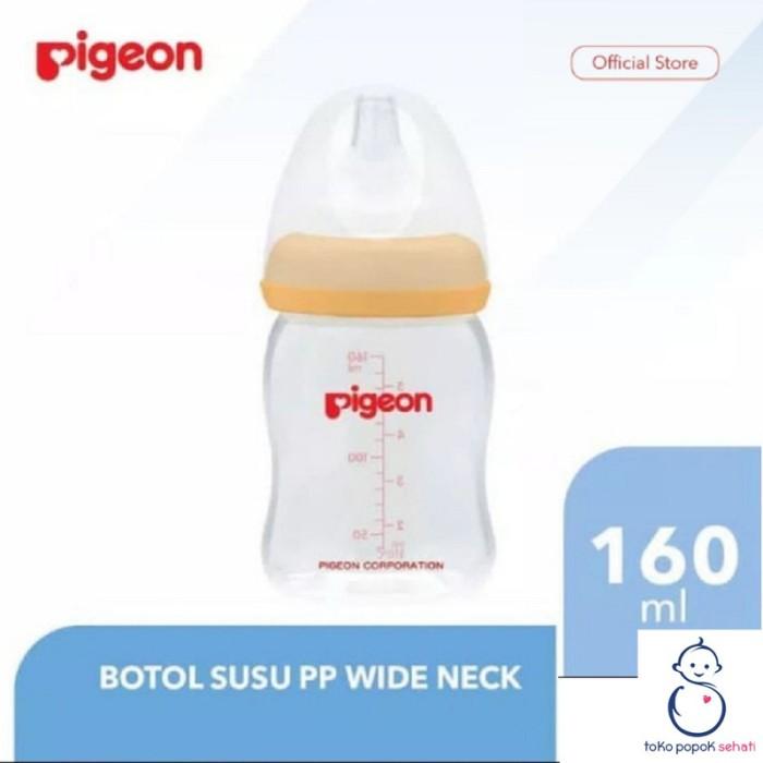 Foto Produk PIGEON BOTOL SOFTOUCH SATUAN 160ml BOTOL SUSU WIDE NECK dari TOKO POPOK SEHATI