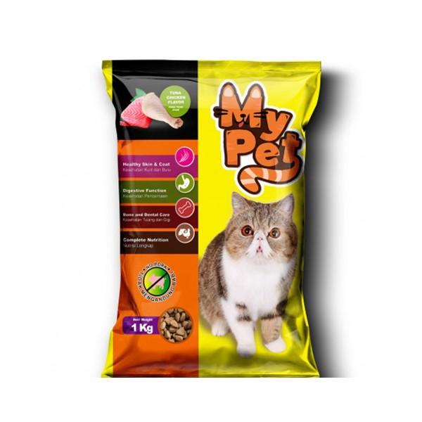 Foto Produk my pet 1 kg cat tuna chicken flavor dari F.J. Pet Shop
