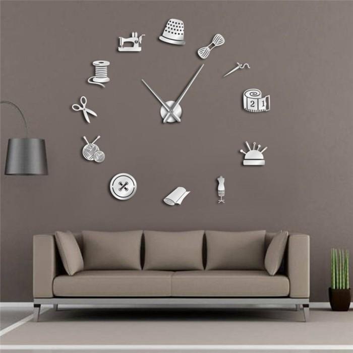 Jual Tailor Shop Decorative Diy Large Wall Clock For Living Room Vintage Jakarta Pusat Moroorene Tokopedia