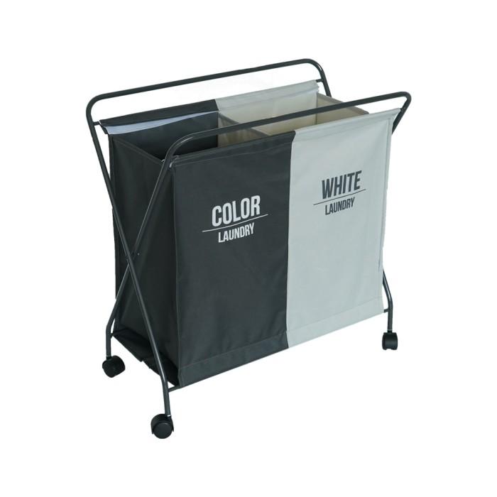 Jual Informa Keranjang Pakaian Double Laundry Hamper Wht Gry 65x37x68cm Kota Tangerang Selatan Informa Tokopedia
