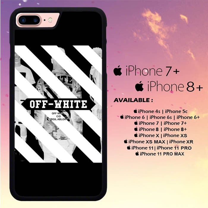 Jual Casing Iphone 7 Plus Off White Wallpaper L0227 Kota Semarang Unicorncase Tokopedia
