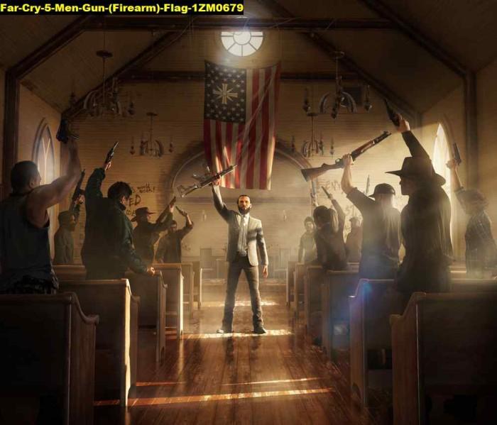 Jual Poster Game Far Cry 5 Men Gun Firearm Flag 1zm0679 90x77 Bahan Pet Kab Majalengka Juragan Poster Murah Tokopedia