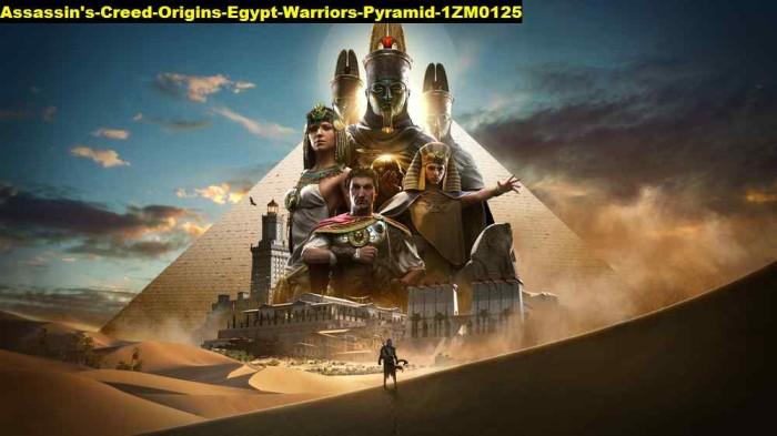 Jual Poster Assassins Creed Origins Egypt Warriors Pyramid 0125