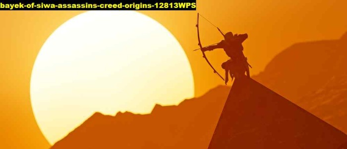 Jual Poster Game Bayek Of Siwa Assassins Creed Origins 12813wps