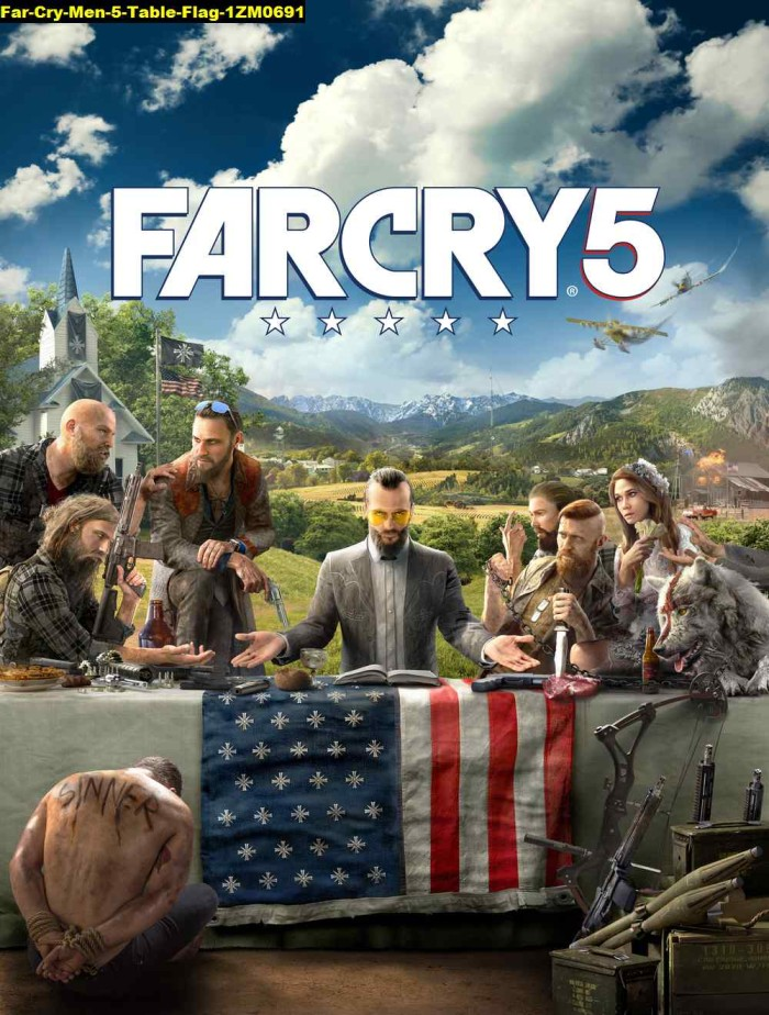 Jual Poster Game Far Cry Men 5 Table Flag 1zm0691 90x68cm Bahan Pet Kab Majalengka Juragan Poster Murah Tokopedia