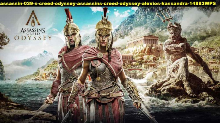 Jual Poster Assassin Creed Odyssey Assassins Alexios Kassandra