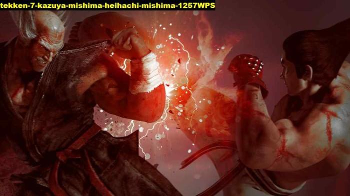 Jual Poster Tekken 7 Kazuya Mishima Heihachi Mishima 1257wps 90x51 Pet Kab Majalengka Juragan Poster Murah Tokopedia
