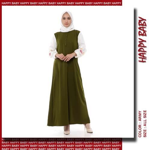 Jual P789 Baju Dress Gamis Kancing Depan Muslim Wanita Mosscrepe Kab Purwakarta Happy Baby Pwk Tokopedia