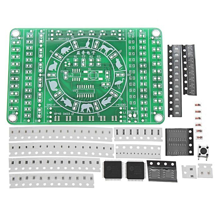 SMD Rotating LED SMD Components Soldering Practice Board Kit DIY ModPL