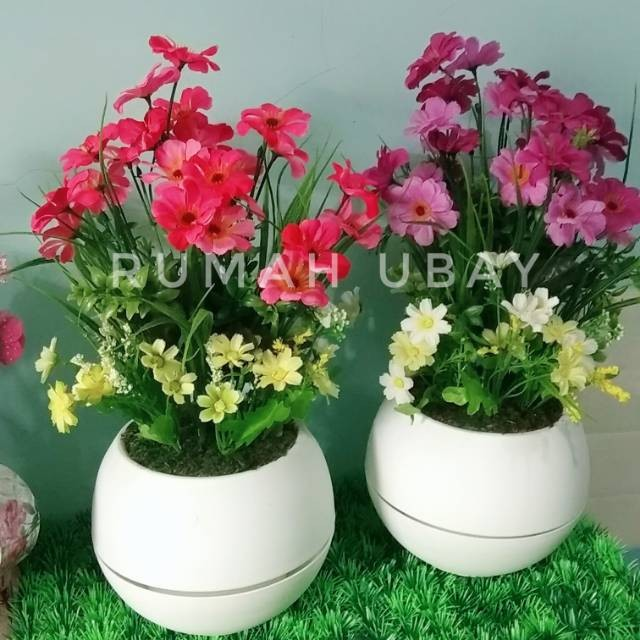 Jual Bunga Aster Bunga Aster Artificial Dengan Vas Bulat Jakarta Pusat Occur Indah Jaya 88 Tokopedia