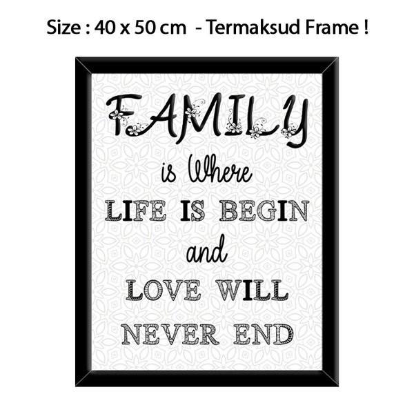 Jual Hiasan Dinding Quote Family Ad0032 Jakarta Pusat Sulistiyowatihidayat971a Tokopedia