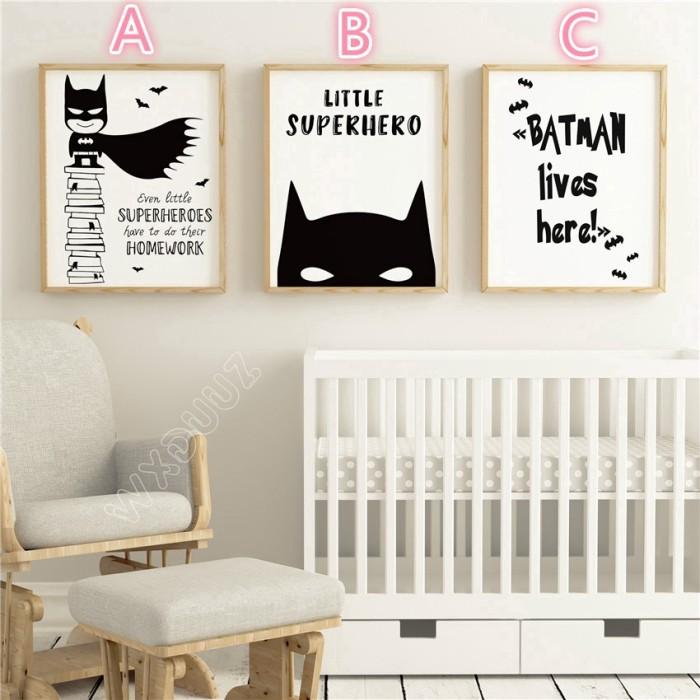Jual Lukisan Kanvas Desain Batman Untuk Dekorasi Kamar Anak Kota Bogor Calosia Tokopedia
