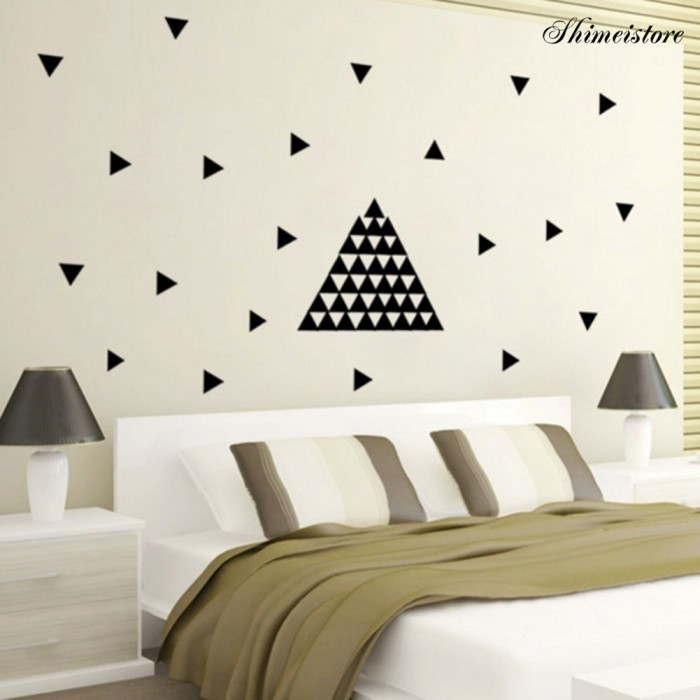 Jual Wall Sticker 48pcs Set Triangle Self Adhesive Room Decor Jakarta Barat Franklis Tokopedia