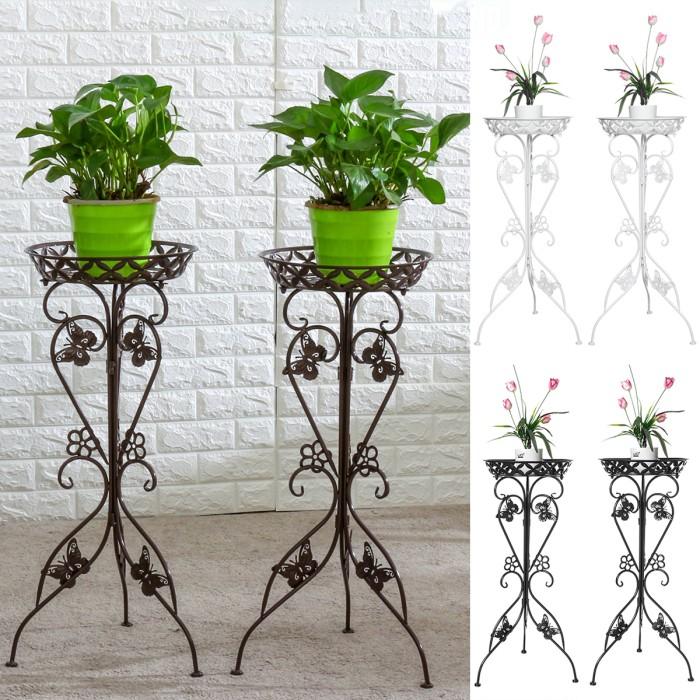 Jual Metal Plant Display Stand Flower Pot Holder Shelf Garden Kota Surabaya Pojok Warung Tokopedia