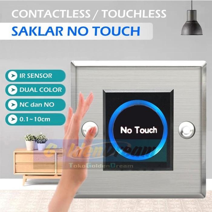 Foto Produk Saklar Tanpa Sentuh No Touch Button Sensor Infrared Gerak Switch dari VISITEK