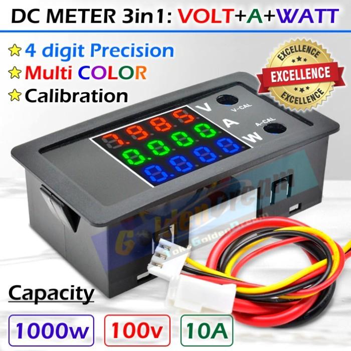 Foto Produk Precision DC Meter 3in1 Volt Ampere Watt 4 digit V A W Multi Warna - 3 warna dari VISITEK