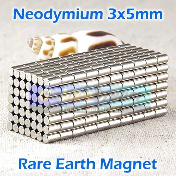 Foto Produk Strong Magnet Neodymium 3x5mm Silinder 3x5 mm N52 3mm 5mm DIY Box dari VISITEK