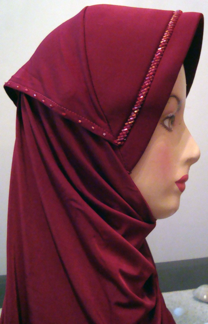 Foto Produk Jilbab Belah Samping Model Lapis dari One Second Shop