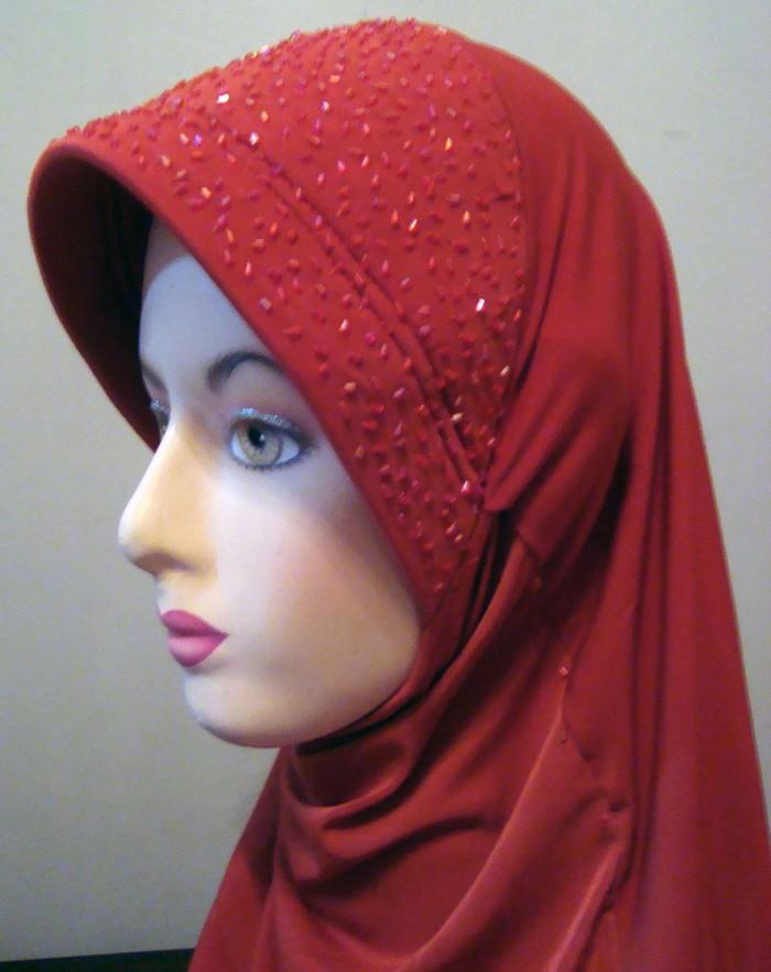 Foto Produk Jilbab Belah Samping Payet Full dari One Second Shop