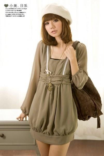 Foto Produk dark green dress  dari Miu's Ribbon