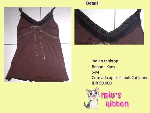 Foto Produk Indian Tanktop dari Miu's Ribbon