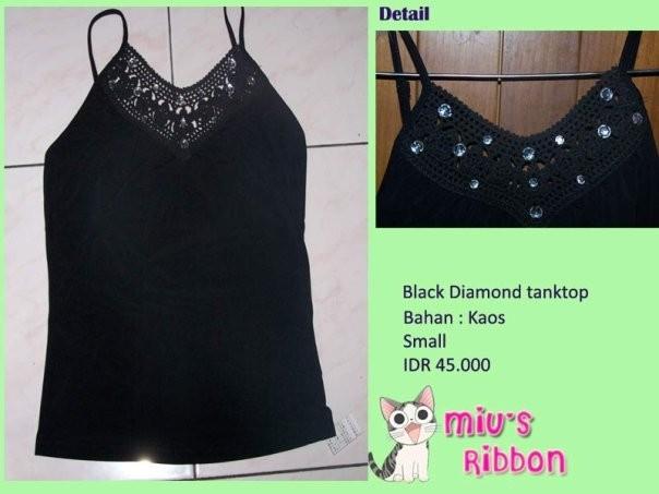 Foto Produk Black Diamond Tanktop dari Miu's Ribbon