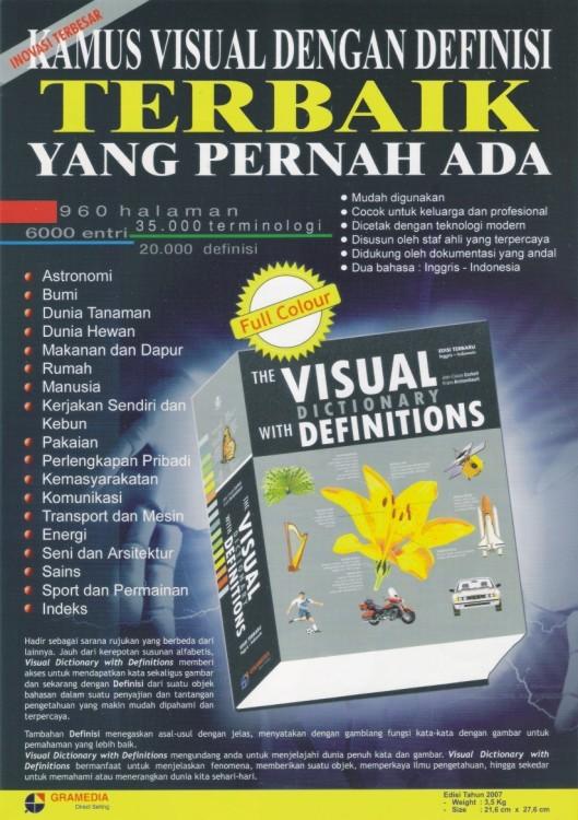 Jual Kamus Visual Dengan Definisi Gramedia Direct Tokopedia