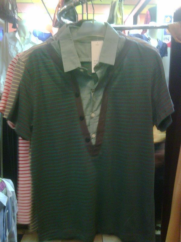 Foto Produk Green Stripes Shirts Double Layer dari Samurai