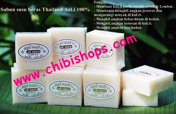 Jual Sabun Susu Beras Thailand Memutihkan Mencerahkan