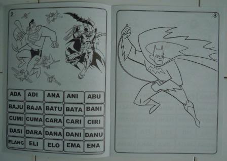 Jual Buku Gambar Dan Mewarnai Batman Toko Aneka Tokopedia