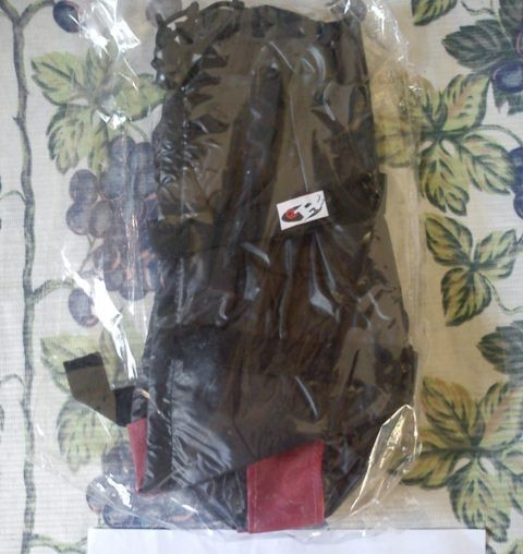 Foto Produk jas hujan / mantel sepatu (garis merah - hitam) dari Tokokou