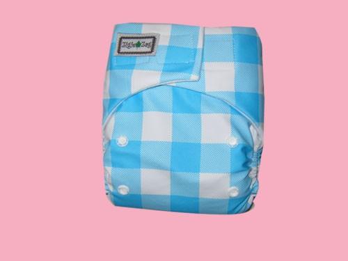 Foto Produk Ziggie Zag JUMBO Diaper - Blue Flanel dari CHRISTALIS Shop