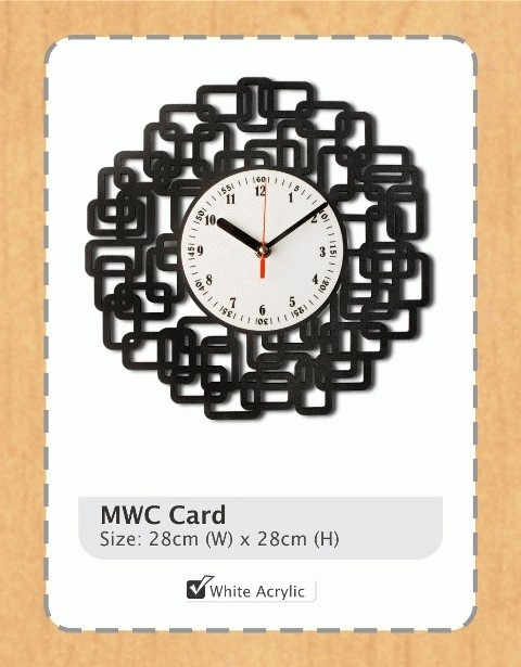 Jual Jam Dinding MWC Card   Coral   New Romawi - ShoPaHoLiC ShoP ... cd85c998f7