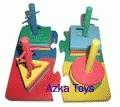 Menara Kunci 4 Puzzle - Mainan Kayu