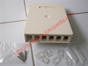 harga Roset optik ftth / indoor optical outlet 6 core sc/fc/st box Tokopedia.com