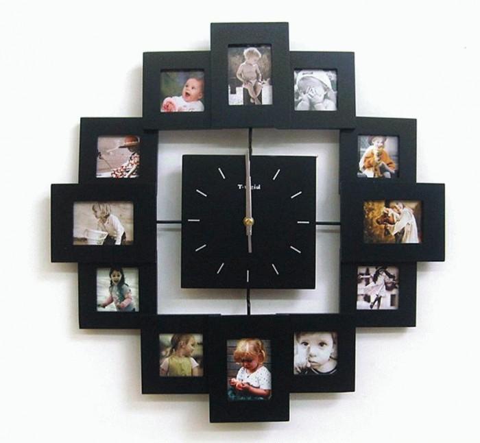 настенные часы своими руками из фотографий деньги рук
