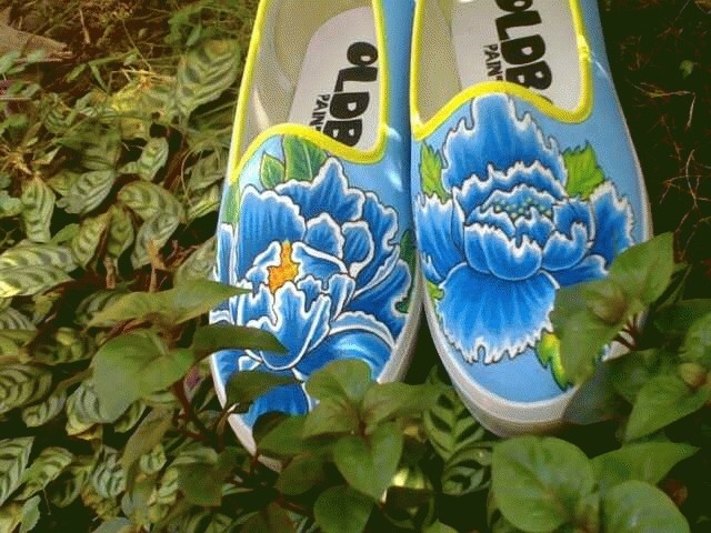 Foto Produk Blue Flower dari OLDBOY PAINTED SHOES