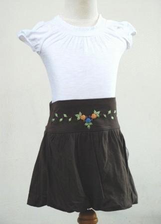 Foto Produk Rok Kaos Baon Cokelat, Uk.4-5T dari My 1st Style - Kids Wear