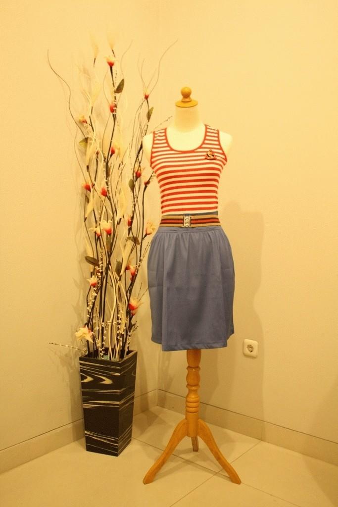 Foto Produk stripes + denim dress dari rlsdn-3232