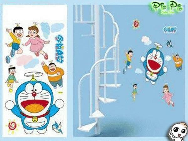 jual stiker dinding (wall sticker) doraemon - kota banjarbaru - pio