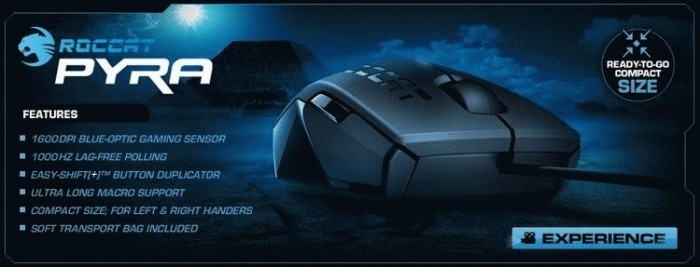 ROCCAT Pyra Wired Mouse Vista