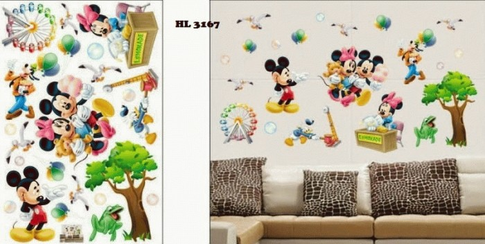 jual wall sticker / wallsticker / wallpaper/ stiker dinding mickey